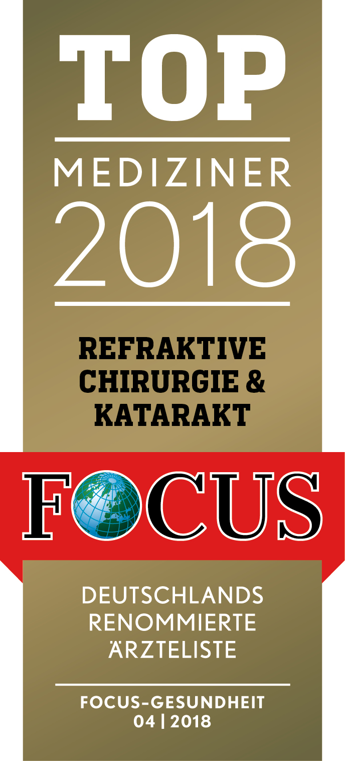 Focus Siegel Top Mediziner 2018 | Augenzentrum.ONE