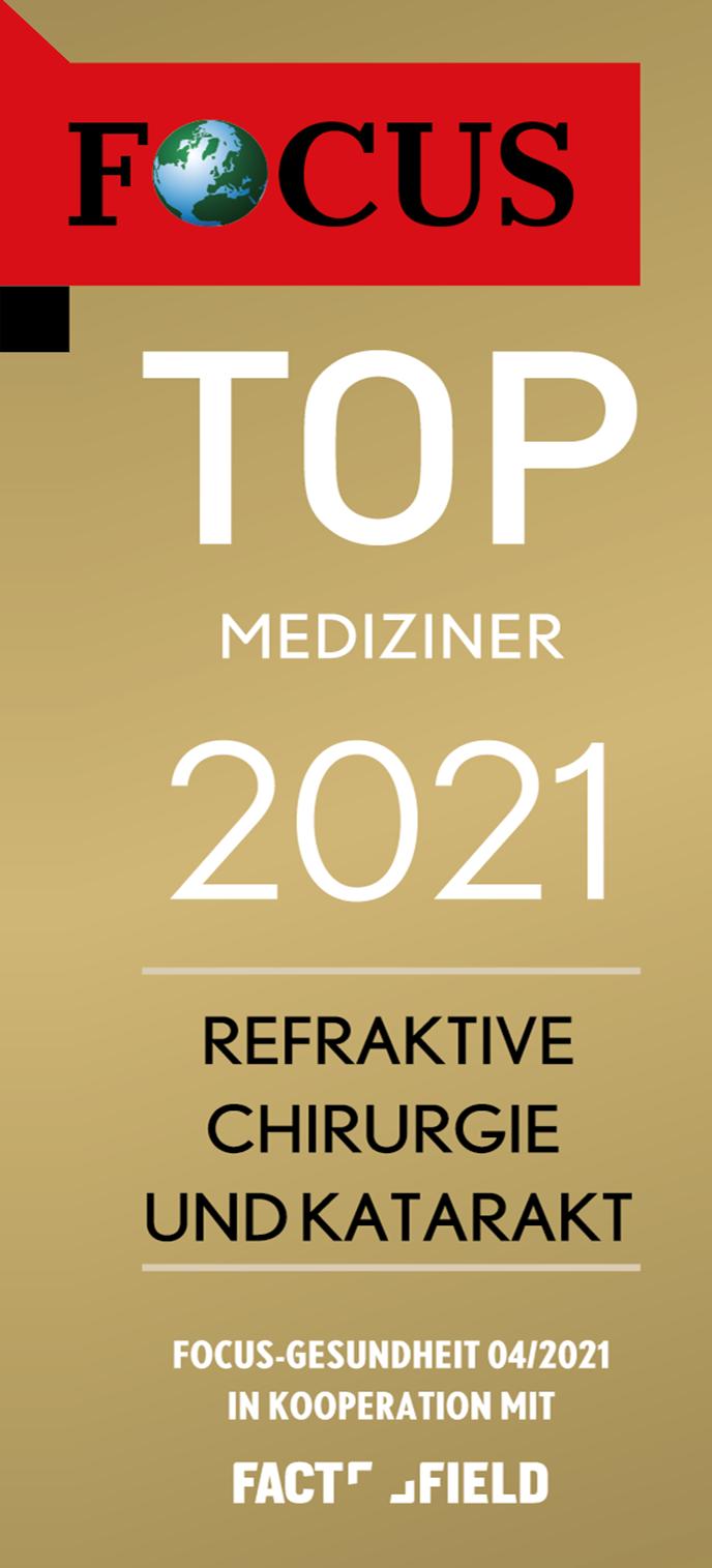 Focus Siegel Top Mediziner 2021 | Augenzentrum.ONE